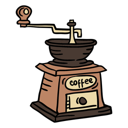 Máquina de café de color dibujado a mano elemento austria
