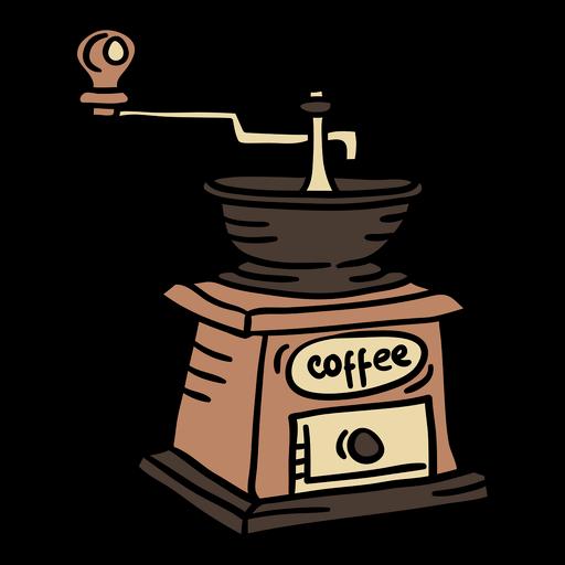 Elemento de austria de máquina de café de color dibujado a mano