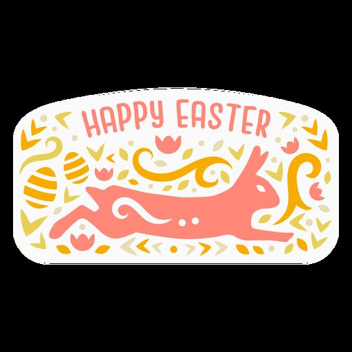 Happy easter bunny badge