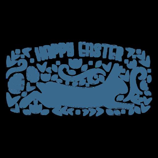 Happy easter bunny vinyl badge