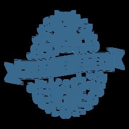 Feliz huevo de pascua adorable cara de conejo vinilo