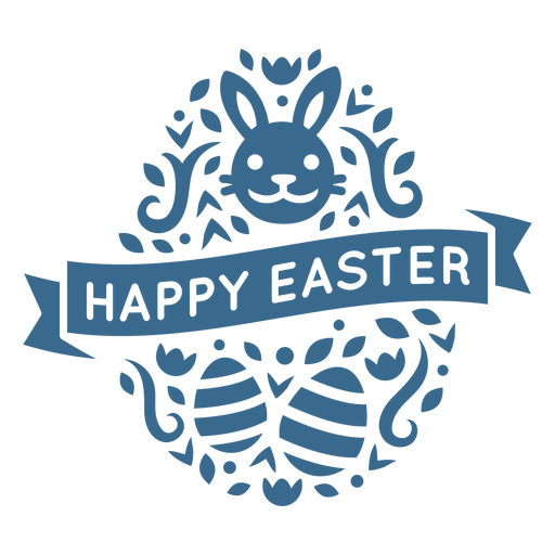 Happy easter egg adorable bunny face vinyl