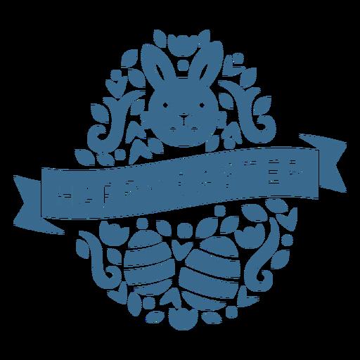 Vinilo de cara de conejito adorable huevo de pascua feliz