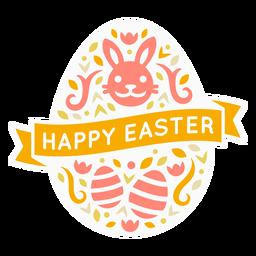 Emblema de ovo de Páscoa feliz