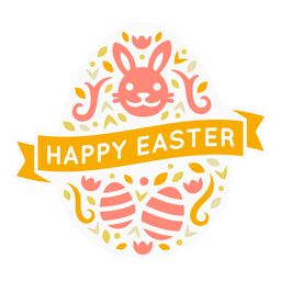 Happy easter egg badge