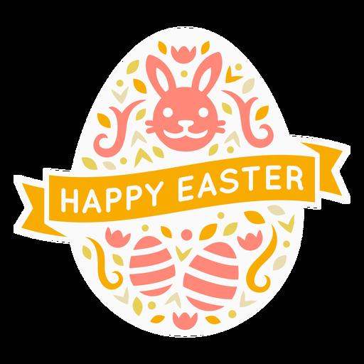 Happy easter egg badge