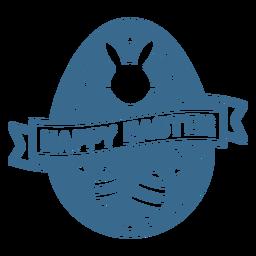 Vinilo insignia de huevo de pascua feliz