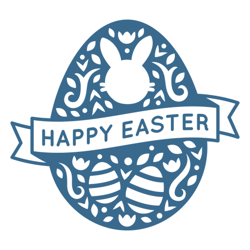 Happy easter egg badge vinyl
