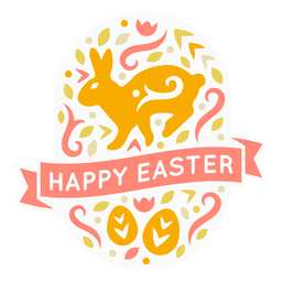 Happy easter eggs candinavian badge