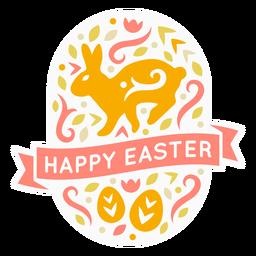 Insignia candinaviana feliz huevos de pascua