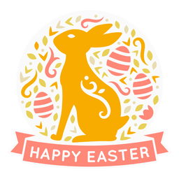 Happy easter holiday badge