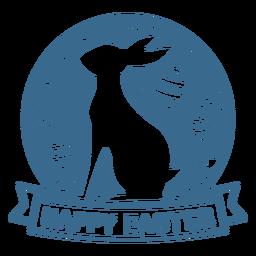Vinil de crachá de feliz feriado de páscoa