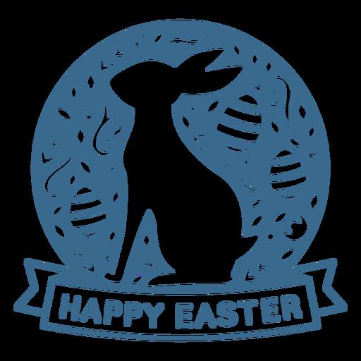 Happy easter holiday badge vinyl