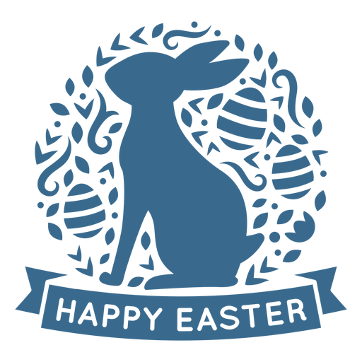 Happy easter holiday vinyl Transparent PNG