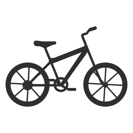 Hardtail bike silhouette