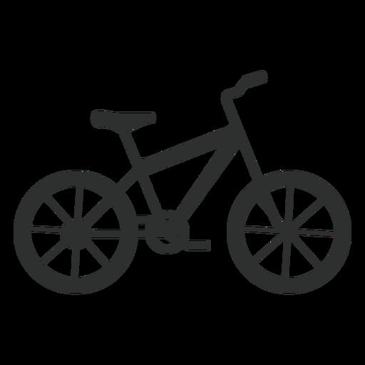 Silueta de bicicleta rígida