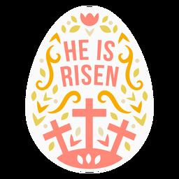 He is risen egg badge