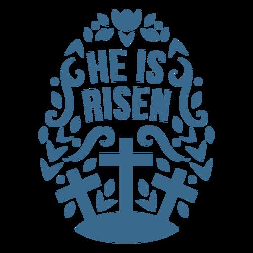 He is risen egg badge vinyll