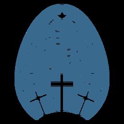 He is risen egg vinyl