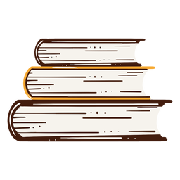 Heaped books illustration