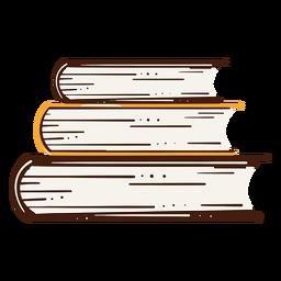 Ilustración de libros colmados