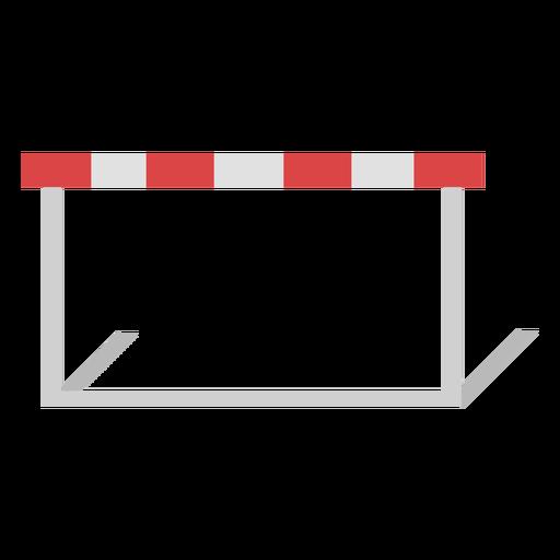 Diseño plano de valla de carrera de obstáculos