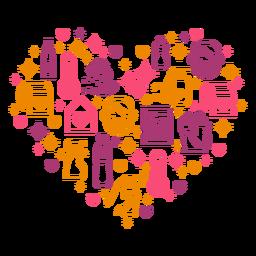 Hygiene measures heart composition