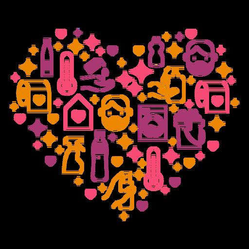 A higiene mede a composição do coração