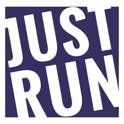 Just run workout lettering