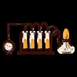Ilustración de equipo de experimento de laboratorio