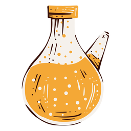 Lab flask hand drawn