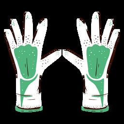 Guantes de laboratorio dibujados a mano
