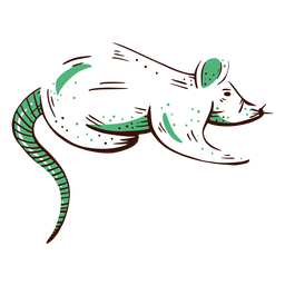 Elemento ilustrado de rata de laboratorio