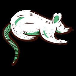 Elemento ilustrado de rato de laboratório