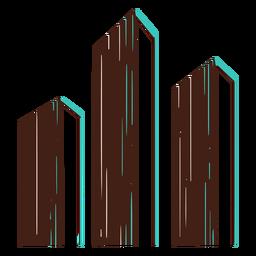 Dibujo a mano de gráfico de barras 3d grande