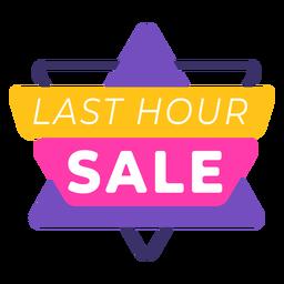 Last hour sale label