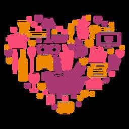 Composição do coração em quarentena de lazer