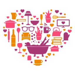 Composición del corazón en cuarentena en el tiempo libre