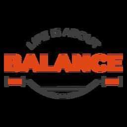 La vida se trata de letras de bicicleta de equilibrio
