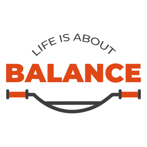 Life is about balance bike lettering Transparent PNG