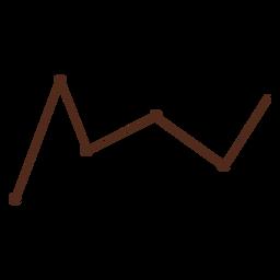 Dibujado a mano gráfico de líneas