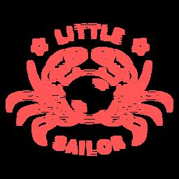 Pequeño diseño de onesies de trazo de cangrejo marinero