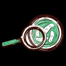 Ilustración de elemento de laboratorio de moléculas magnificadas