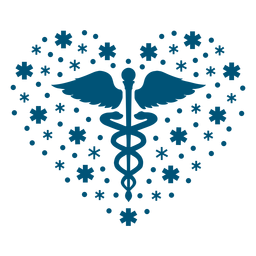 Mental health symbol heart composition