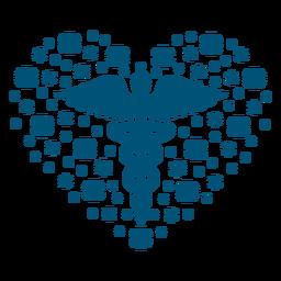 Símbolo de salud mental composición del corazón