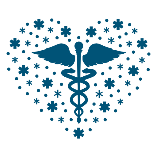 Mental health symbol heart composition