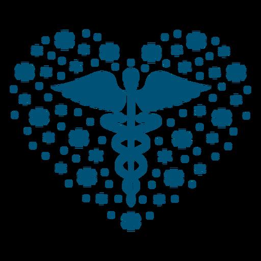 Símbolo de salud mental composición del corazón Transparent PNG