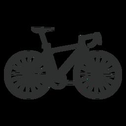 Silueta de bicicleta de montaña