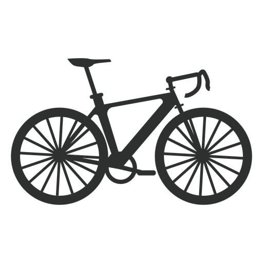 Silueta de bicicleta de montaña Transparent PNG