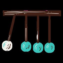 Elemento dibujado a mano ciencia de la cuna de newton